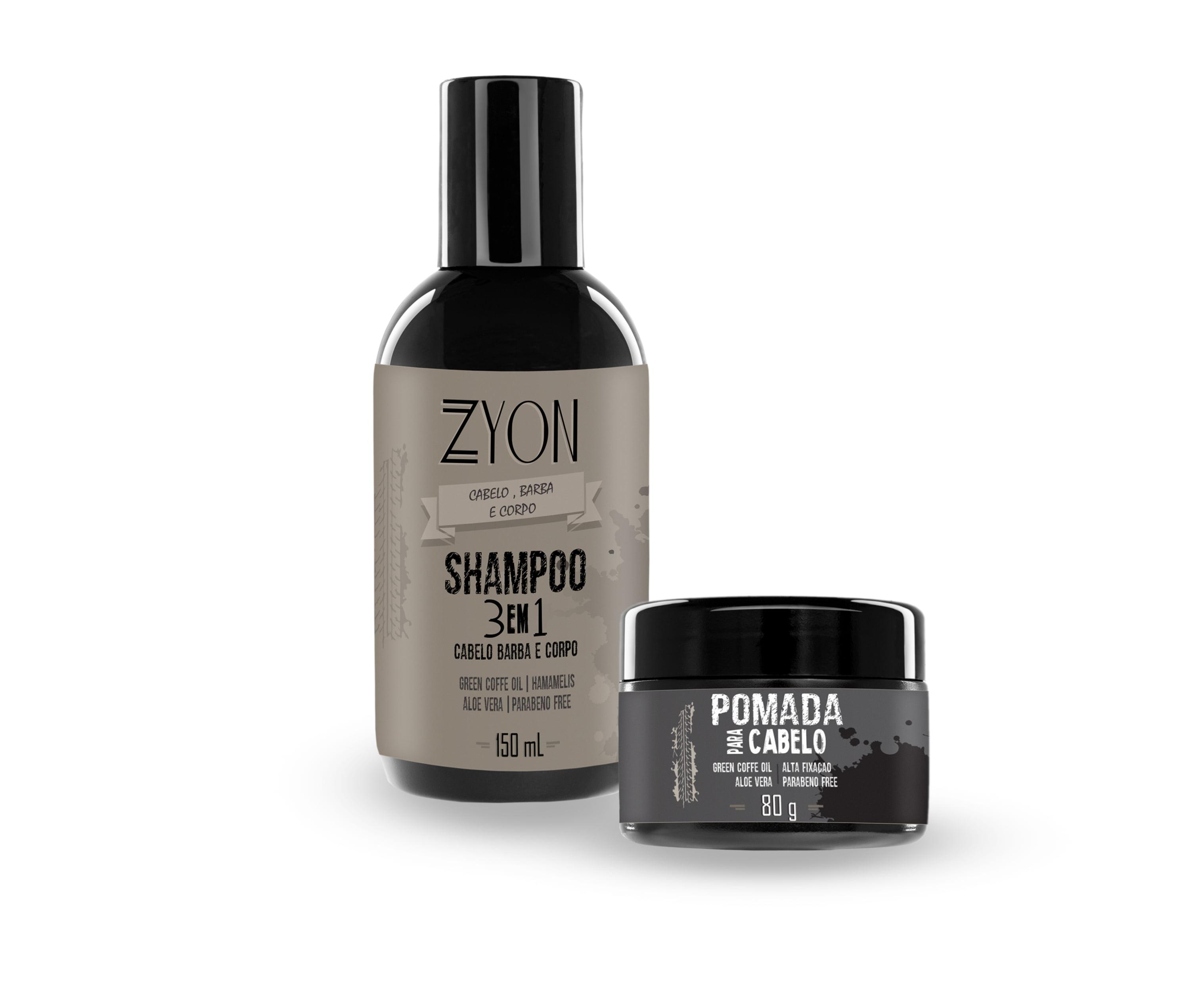 Kit Shampoo e Pomada Efeito Molhado