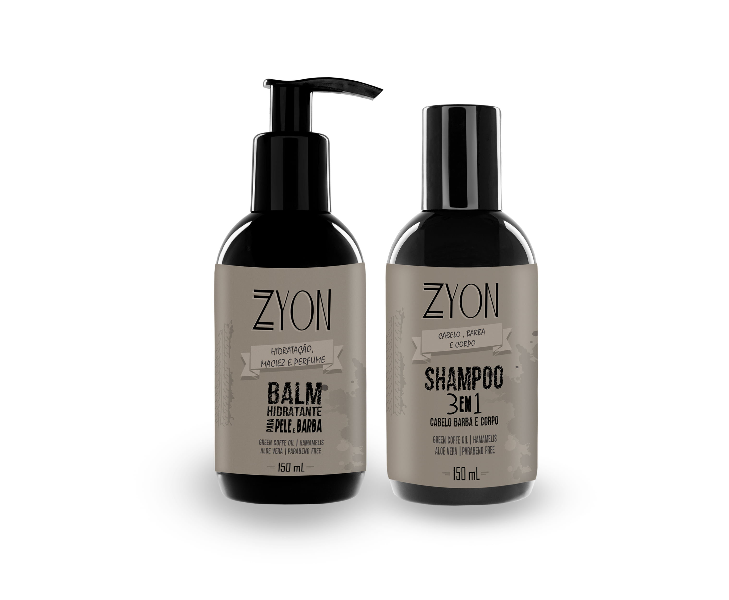 Kit para Barba Balm e Shampoo