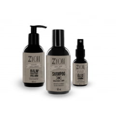 Kit para Barba Shampoo Balm e Óleo